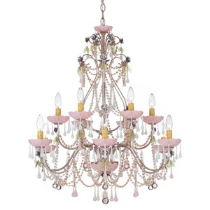 Schonbek Worldwide 1432-23MM 12 Light Rose Chandelier
