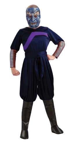 The Last Airbender Child's Deluxe Costume And Mask, Blue Spirit Costume-Large