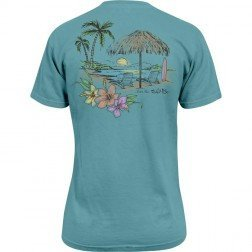 Salt Life Palapa View Salt Wash Womens Turquoise T-shirt Large (Salt Life Womens Shirts compare prices)