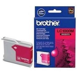 Brother LC1000M Tintenpatrone für Tintenstrahldrucker Kapazität 400 Seiten Magenta