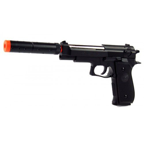 Details for Double Eagle Spring M22 Silenced Pistol Fps-300 Airsoft Gun by Double Eagle