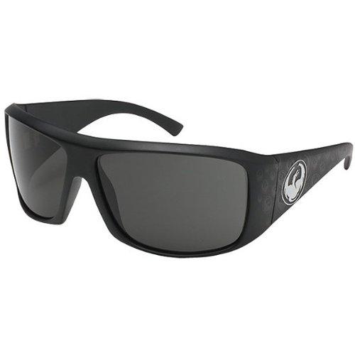 Dragon Alliance Calavera Men's Large Fit Polarized Casual Sunglasses - Color: Jet Matte Logo/Grey, Size: One Size Fits All