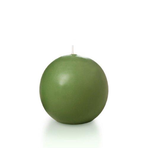 "Yummi 2.8"" Green Tea Sphere / Ball Candles - 3 Per Pack"