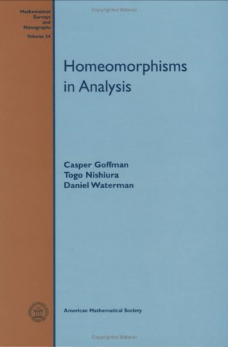 Homeomorphisms in Analysis