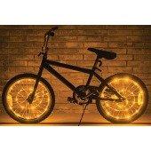 Orange Wheelbrightz Bicycle Lights