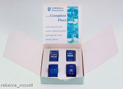 Cornhill Insurance promotional box set including cars