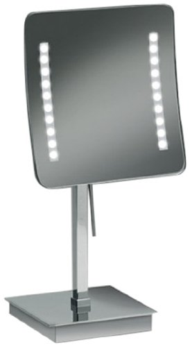 Nameeks 99827 O 3X Windisch Free Stand Led Make Up Mirror, Gold front-81227