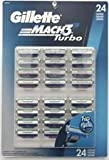 Mach3 Turbo Refill Cartridge Blades, 24 Count - Made In USA