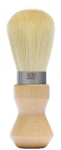 SOU AKADA シルクホイップブラシ シェービングサイズ ウレタン塗装 ナチュラル 100328