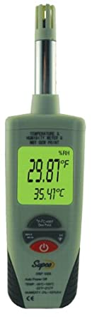 Supco DSP1000 Digital Psychrometer with Dew Point and Wet Bulb, -22 to 212 Degree F, +/- 0.9 Degree F Accuracy