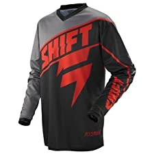 2013 Shift Assault Jersey (MEDIUM) (GREY/RED)