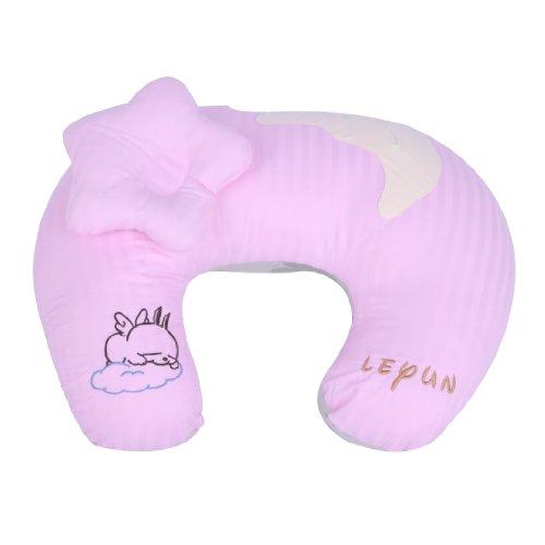 Leyun Bamboo Fiber High-Grade Embroidery U-Type Breastfeeding Pillow Pink front-843444