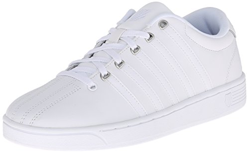 K-Swiss Women's Court Pro II CMF Athletic Shoe, White/Silver, 9 M US