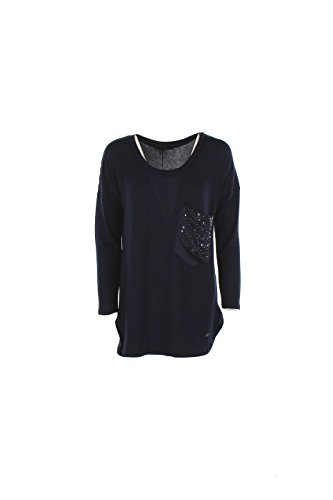 T-shirt Donna Yes-zee M Blu T017 C900 Autunno Inverno 2016/17