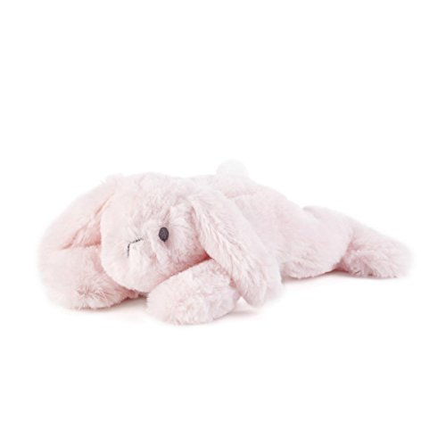 DEMDACO Plush Soft Pink Bindy Bunny Rattle