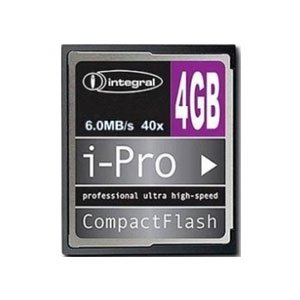 Integral 4GB 40x High Speed I-Pro Compact Flash Cards