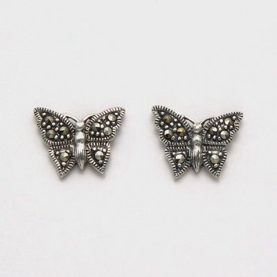 Marcasite Small Butterfly Earrings