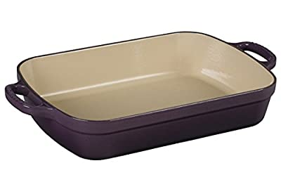Le Creuset LS2011-2972 Signature Cast Iron Rectangular Roaster, 3.0-Quart, Cassis
