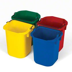 Rubbermaid Commercial Products 9T83 5-Quart Disinfecting Utility Pail - Blue, Green, Red & Yellow