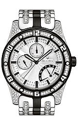 Bulova Men's 98C103 Crystal Silver and White Dial Bracelet Watch