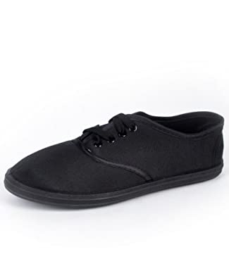 Buy Ladies Classic Black Canvas Shoes by boxed-gifts