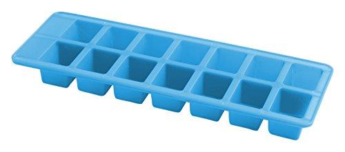 Home Confezione 2 Formaghiaccioli in Plastica, Forma Rettangolare, 14 Posti, Multicolore