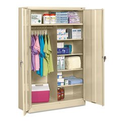 * Jumbo Combination Steel Storage Cabinet, 48w x 24d x 78h, Putty *