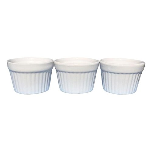 Om Joy Collection Porcelain Ramekin Dish Set 4 oz Capacity Each (3) (Small Bowl For Oven compare prices)