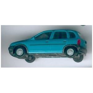 HERPA 021371 OPEL CORSA GLS 4türig- Miniaturmodell (Präzisionsmodell) 1:87, Farbe: türkis