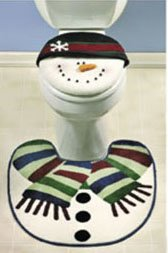 Snowman Bathroom Toilet Seat Cover