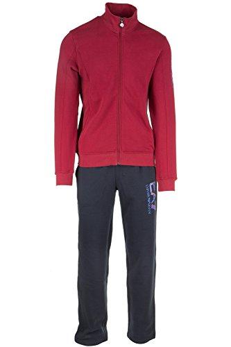 Emporio Armani EA7 tuta uomo fashion completo felpa pantaloni rosso EU M (UK 38) 6XPV55PJ07Z24BA