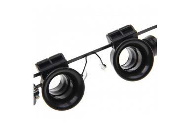 Glasses Type 20x Watch Repair Binocular Magnifier with LED Light