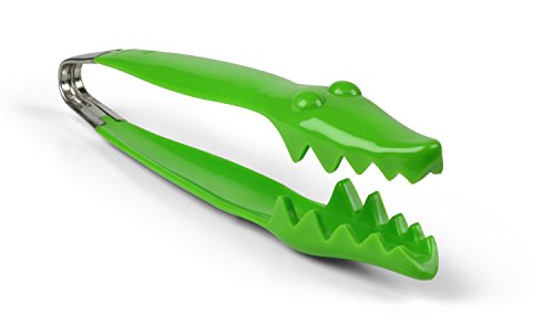 Fred and Friends Salad Snapper Alligator Salad Tongs, Green