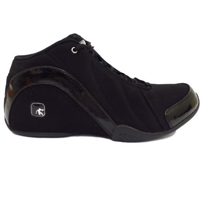 Mens Boys Black AND1 Rocket Mid Basketball Trainers Shoes Boots