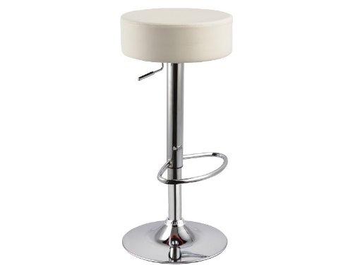 Jadella Round - Sgabello da bar, girevole, colore: Crema