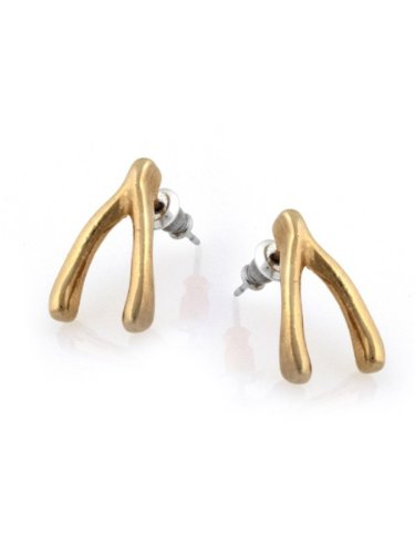 Belle Noel By Kim Kardashian Wishbone Stud Earrings - Gold