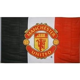 Manchester United Official Team Flag - 3 Stripe