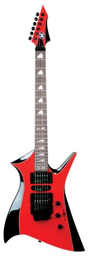 Axl Bloodsport Fireax Electric Guitar, Red/Black