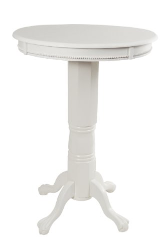 Boraam 71442 Florence Pub Table, 42-Inch, White (White Pub Table compare prices)