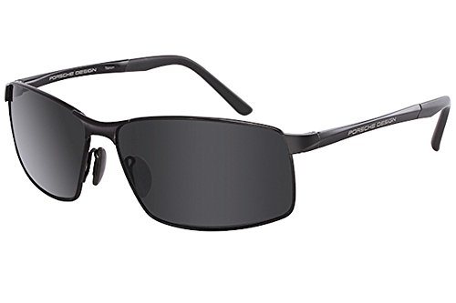 Porsche Design Men's P'8541 P8541 D Dark Gun/Gray Sport Sunglasses 63mm
