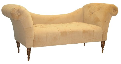 Skyline Furniture Roslyn Double Arm Tufted Chaise