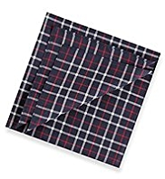 4 Pack Pure Cotton Checked Handkerchiefs