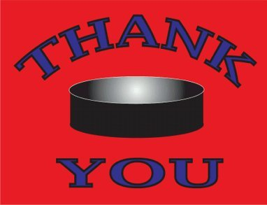 Hockey All Star Thank You Cards