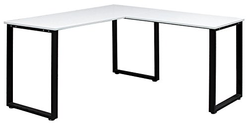 Offer Cheap Merax 59 L Shapped Desk With Metal Legs