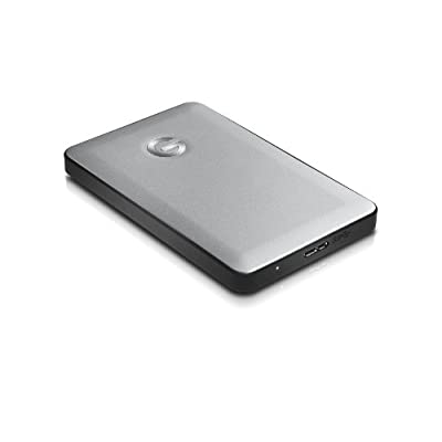 G-Technology G-DRIVE mobile Portable USB 3.0 1TB Hard Drive for On-the-Go Laptop Users (Silver) (0G02428)