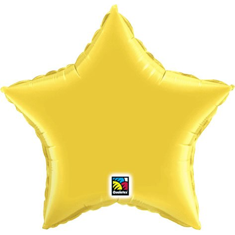 Metallic Gold Star Shape Micro Balloon (1 ct) (1 per package)