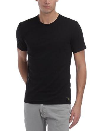 Calvin Klein Underwear Men's CK ONE COTTON Plain Round Collar Short Sleeve Vest, Black, Small
