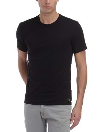 Calvin Klein Underwear - CK One - Maillot de corps - Uni - Col rond - Manches courtes - Lot de 2 - Homme - Noir - FR : Small (Taille fabricant : S)