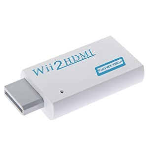 BestDealUSA   Wii To 2 HDMI /DVI 480i/P Upscale to 720/1080P+3.5mm Audio Converter Adapter