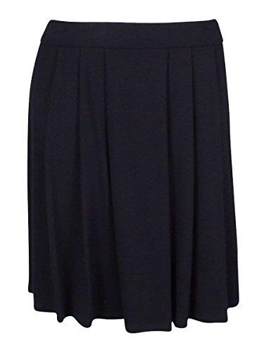 Eileen Fisher Womens Black Petites Short Pleated Skirt